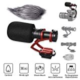 Comica Micro Compact Directional Condenser Shotgun Video Microphone (CVM-VM10 II) for Nikon DSLR Cameras including D600, D7000, D7100, D7200, D750, D7500, D810A, D850 & More.