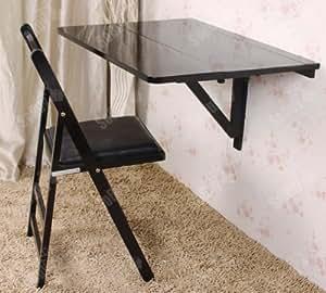 Sobuy mesa de cocina mesa de madera mesa plegable de for Mesa escritorio abatible