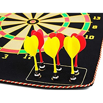Magnetic Roll-up Dart Board and Bullseye Game w/ Darts: Toys & Games