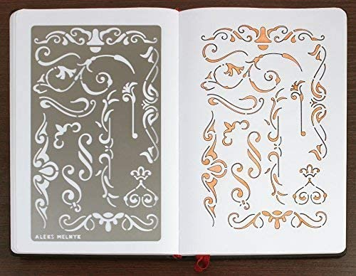 Finds Stencil Template for Painting on Wood Furniture Crafts Vintage Aleks Melnyk #4 Metal Stencil//Flowers and Vines on Walls//Decorating Airbrush Ornament