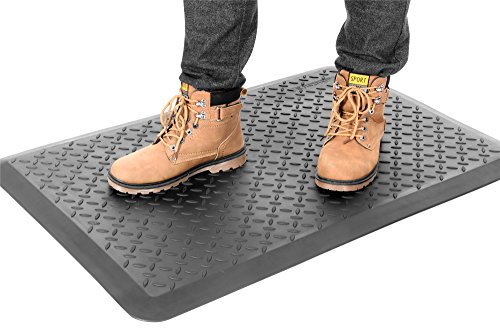 MaxMat Original Anti-Fatigue Diamond Plate Utility Tool Mats with 0.7