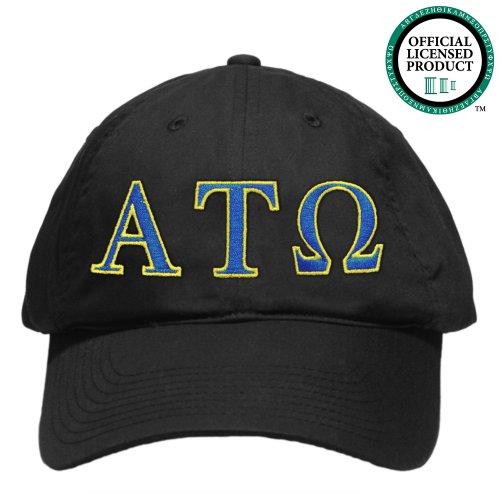 Alpha Tau Omega (ATO) Embroidered Nike Golf Hat, Various Colors