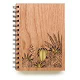 Desert Garden Laser Cut Wood Journal (Notebook/Birthday Gift/Gratitude Journal/Handmade)