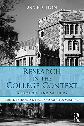 Download Research in the College Context: Approaches and Methods Pdf
