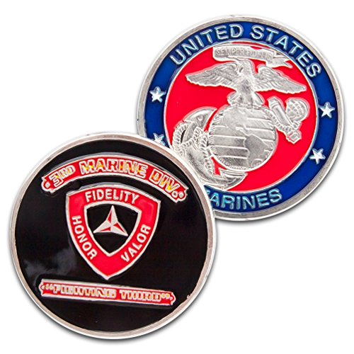 Art Crafter USMC 3nd Marines DIV. Challenge Coins, 1-Pack