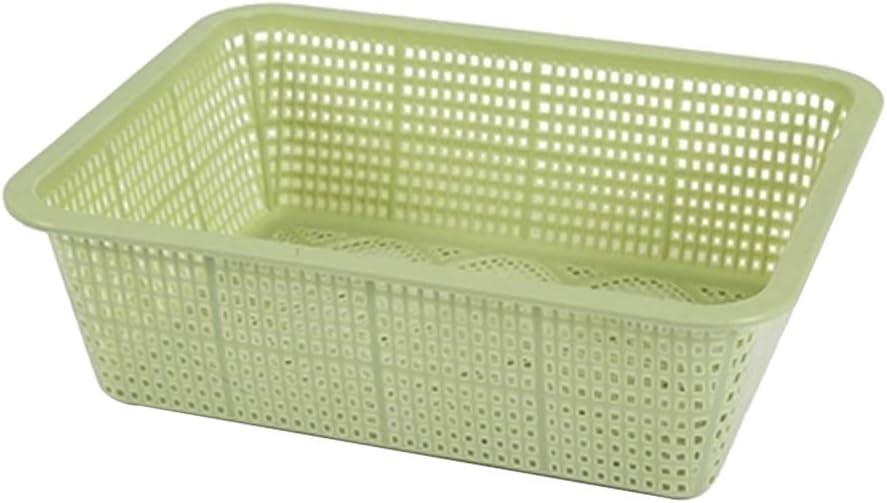 Nikgic 3pc Cesto de drenaje rectangular ahuecado cesto de lavado conjunto de tamiz de drenaje de verduras cesto de almacenamiento de frutas cesta de drenaje cesto de fregadero