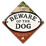 Magnet & Steel Beware Of The Dog Cast Iron Oval Sign