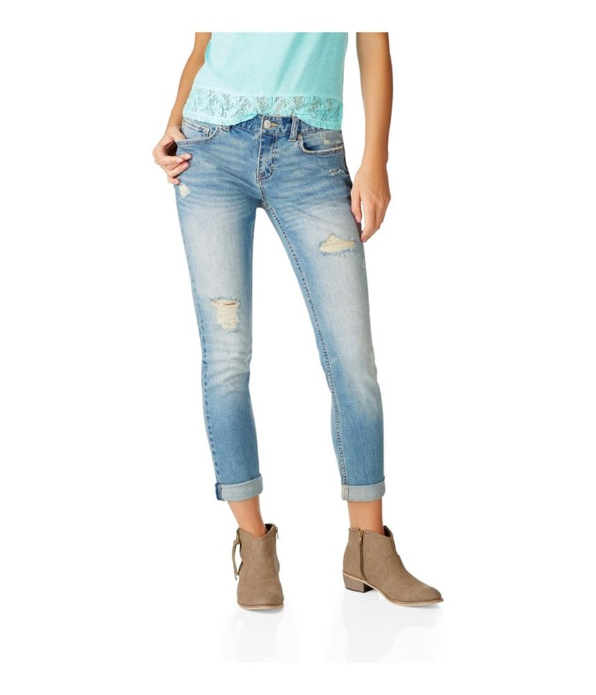 Aeropostale Womens Kylie Boyfriend Fit Jeans Blue 00x32 - Juniors