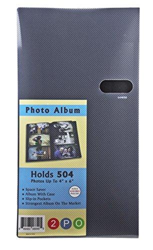 2PO® Advanced Capacity Space Saver Photo Album / Portfolio, Holds 504 of 4 x 6' Photos, Black