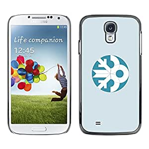 GOODTHINGS ( NO PARA S4 Mini ) Funda Imagen Diseño Carcasa Tapa Trasera Negro Cover Skin Case para Samsung Galaxy S4 I9500 - azul blanco invierno minimalista de Navidad