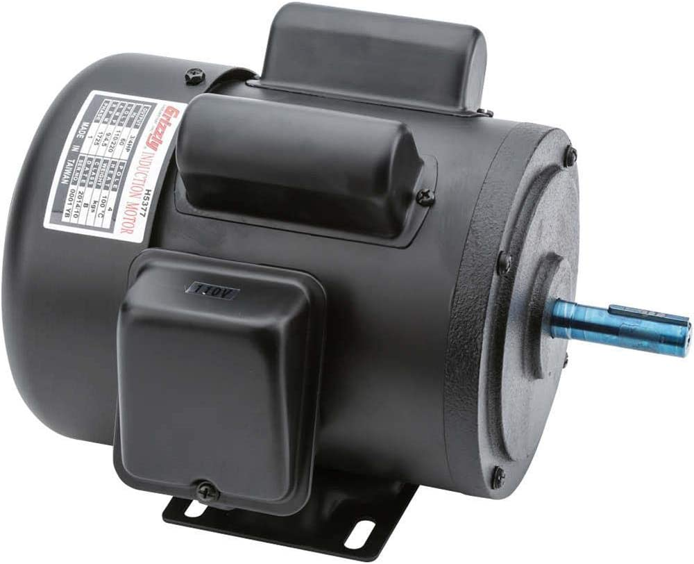 Grizzly Industrial H5377 - Motor 3/4 HP Single-Phase 1725 RPM TEFC 110V/220V