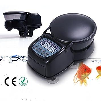 Automatisch Koi Teich Gartenteich Futterautomat Fischfutterautomat Fischfutte DE