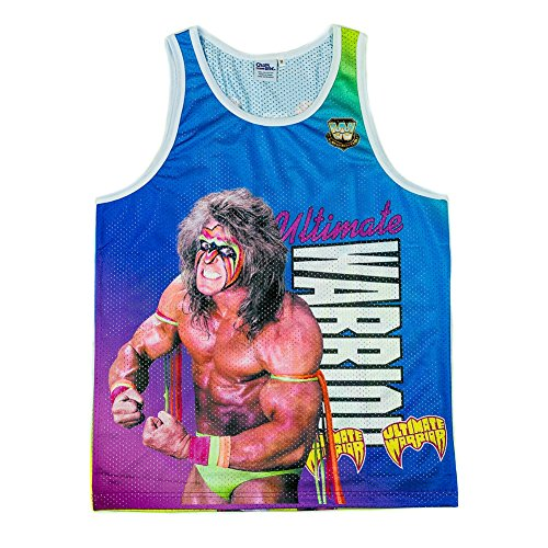 Ultimate Warrior Fanimation WWE Chalkline Tank Top-S by Official WWE Authentic