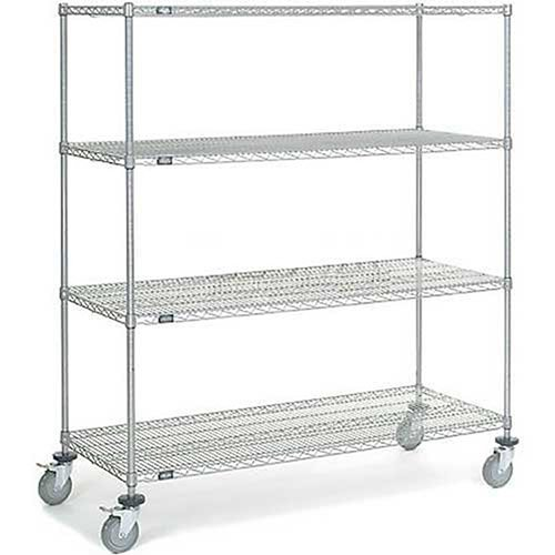 Chrome Wire Shelf Truck, 60