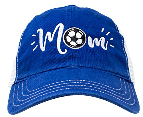 Soccer Mom Hat | Cute Team Color Fan Cap for Women Black Red Blue Green Purple - Royal