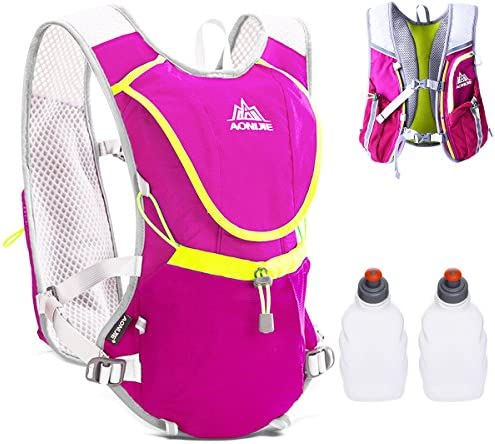 JEELAD 5.5L Running Race Hydration Pack Backpack Hydration Vest for Marathon Biking Hiking Cycling
