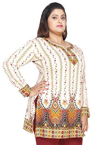 729c5f810db Maple Clothing Women's Plus Size Indian Kurtis Tunic Top Printed India  Clothing