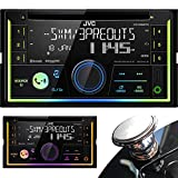 JVC KW-R930BT Double Din Car CD AM/FM Player Receiver w/ Bluetooth/iPhone/Android + Extra