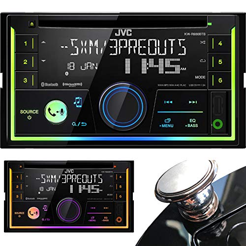 JVC Magnet KW-R930BT Double Din Car CD AM FM Player Receiver w Bluetooth iPhone Android Extra