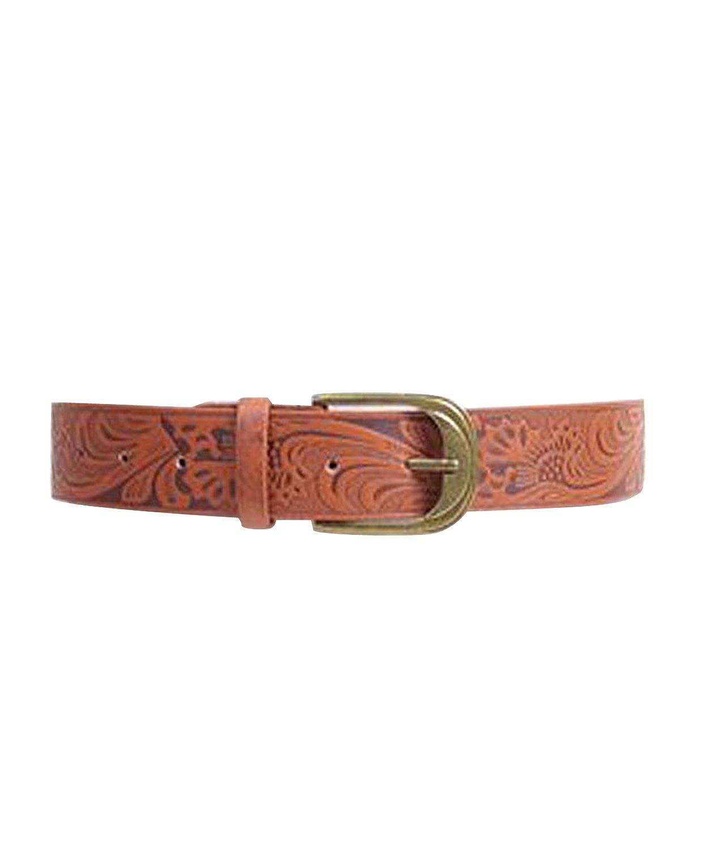 Wild Floral Pattern Leather Belt