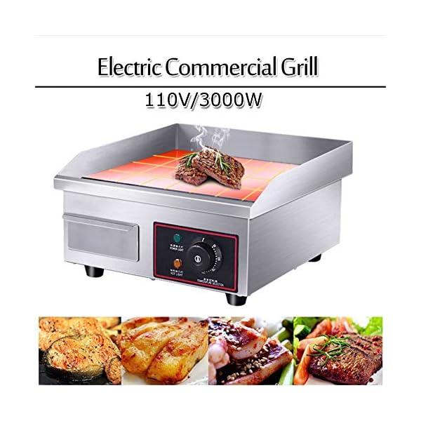 Piastra elettrica da bancone, in acciaio inox, griglia commerciale e professionale, per grigliare carne, bistecche… 2