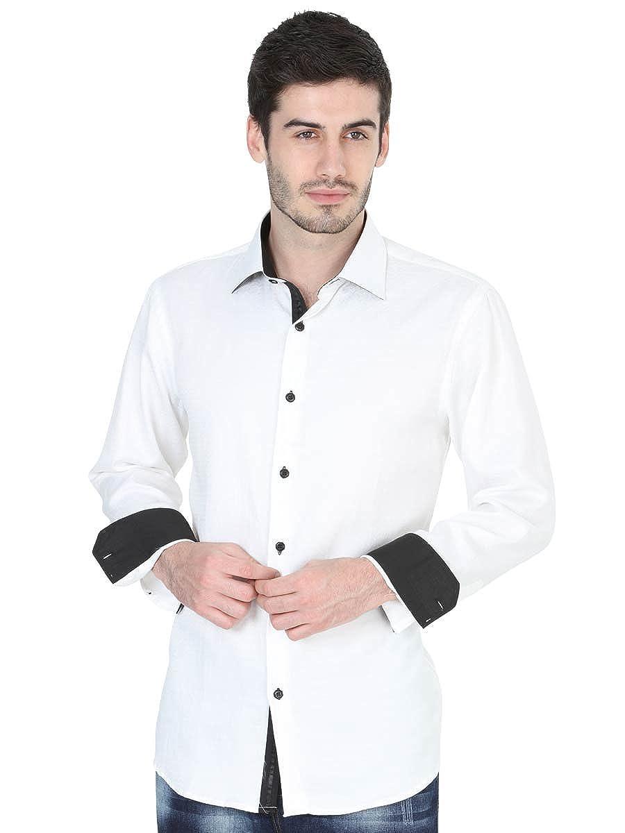 Camisa Casual M/Larga ID 40236 Centenario (CM/L) Tela Rojo at Amazon Mens Clothing store: