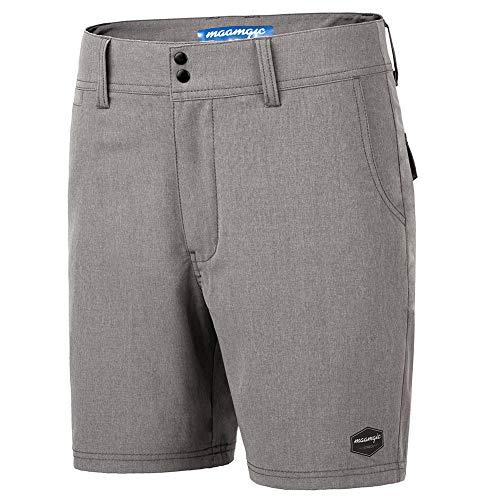 MaaMgic Men's Classic-fit Stretch Golf Shorts, Multi Pocket Casual Short ()