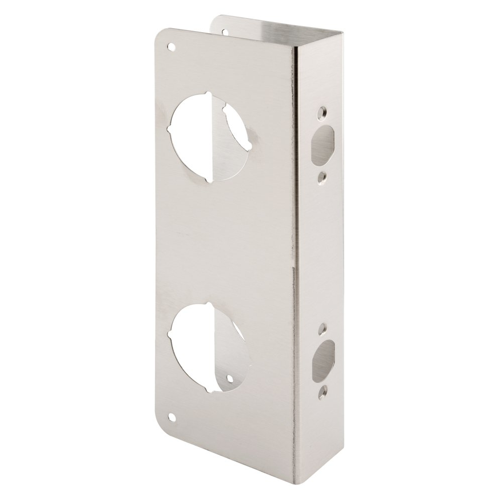 Prime-Line U 10539 Lock and Door Reinforcer – Reinforce and Repair Doors, Add Extra Security to your Home and Prevent Unauthorized Entry - 5-1/2 in, 2-3/8 in. x 1-3/4 in, Stainless Steel