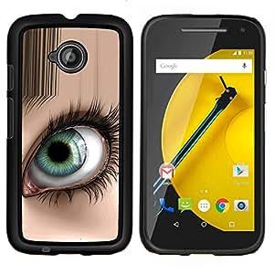 LECELL--Funda protectora / Cubierta / Piel For Motorola Moto E2 E2nd Gen -- Ojo abstracto --