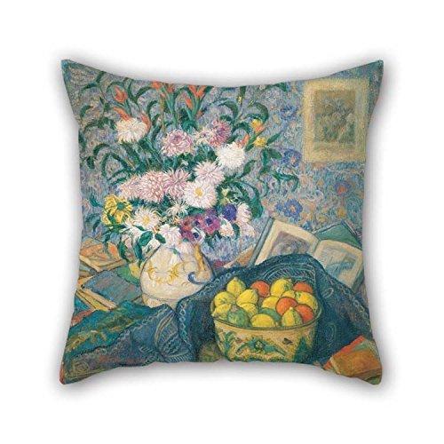 Throw Pillow Case Of Oil Painting Juan De Echevarr???a - Vase With Bananas, Lemons And Books For Gf Gril Friend Study Room Chair Bedroom Girls 20 X 20 Inches / 50 By 50 Cm(twin Sides) (Chair Banana Rocker)