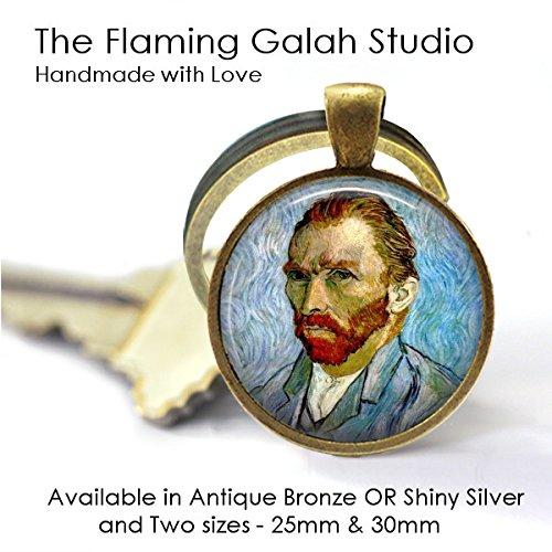 Van Gogh Self Portrait Pendant • Van Gogh Painting • Van Gogh Jewelry • Vincent Van Gogh • Necklace • Key Ring • Gift Under 20 • Antique Bronze or Silver • Made in Australia