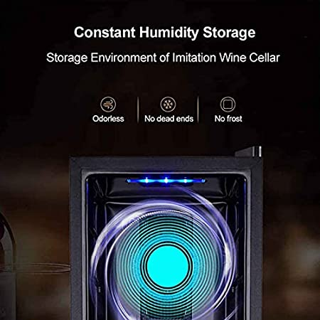 Mini Nevera,Nevera para Vinos De Compresor Independiente Refrigerador con Silent Operación con Temperatura Regulable Entre 11 Y 18 °C con Iluminación LED Vinotecas(Capacidad: 24 Palos)
