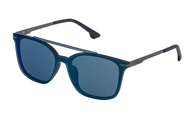 Police SPL528999NQB Gafas de Sol, Azul, 99 Unisex: Amazon.es ...