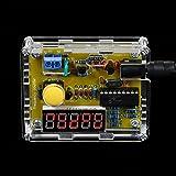 Festnight DIY Frequency Tester Crystal Counter Meter Oscillator Tester with Transparent Case 1Hz~50MHz