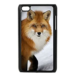 DIY Cover Case with Hard Shell Protection for Ipod Touch 4 case with Cute Fox lxa831533