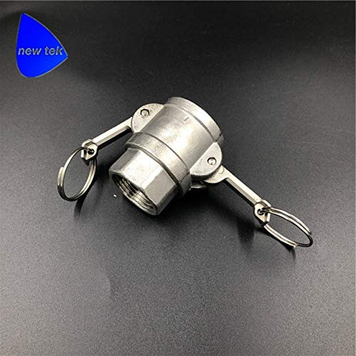 Maslin 3 inch Type D Camlock Adapter Stainless Steel Cam and Groove Fitting - (Color: SS316)