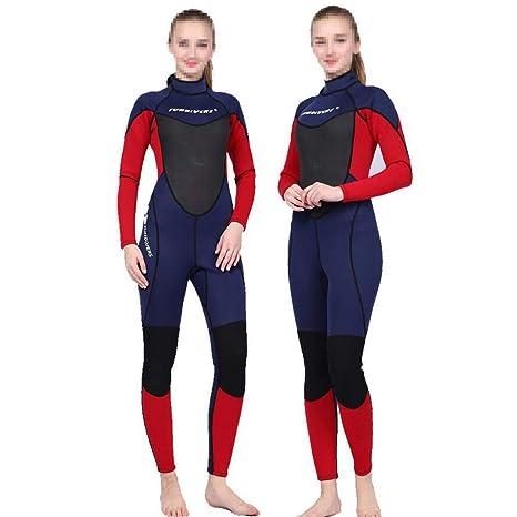 Traje de neopreno de 3 mm para mujer, traje de surf en frío ...