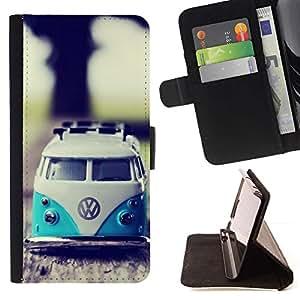 Momo Phone Case / Flip Funda de Cuero Case Cover - VW Hippy Van;;;;;;;; - HTC One A9