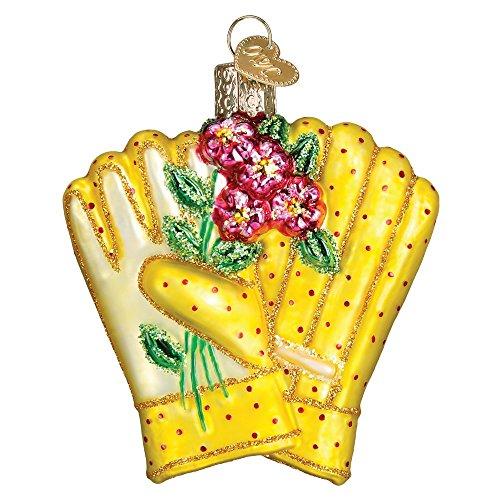 Old World Christmas Spring Garden Glass Blown Ornament (Gardening Gloves)