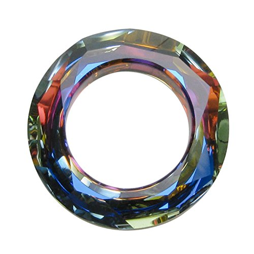 1 pc Swarovski Crystal 4139 Round Cosmic Ring Frame Charm Pendant Volcano 20mm / Findings / Crystallized (4139 Cosmic Ring Pendant)