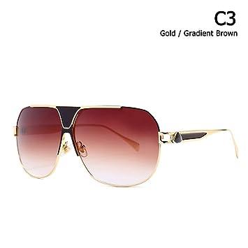 ZHOUYF Gafas de Sol Fashion Square Aviation Pilot Style ...