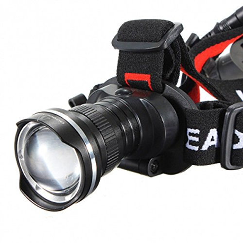 T6 LED 1600Lm Rechargeable Zoomable Bike Bicycle Headlight Headlamp ( Silver ) by Freelance Shop SportingGoods (Image #3)
