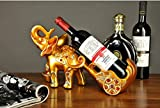 Wine wine shelf resin elephant friend housewarming gift cabinet zj0124153 ( Color : Gold )
