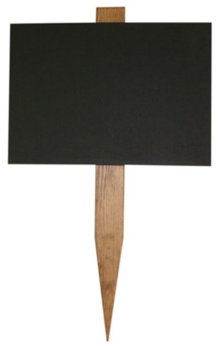 easichalk pequeña pizarra de madera estaca de jardín 9 cm x ...