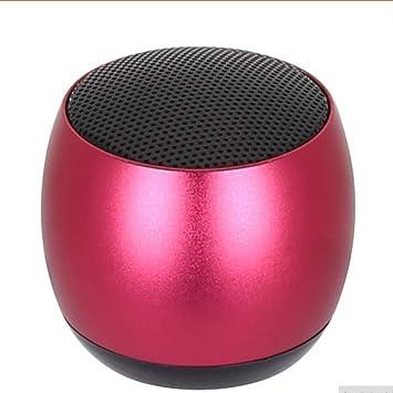 qiyanMini Altavoz Bluetooth Portátil TWS Metal inalámbrico Al Aire Libre 3D Estéreo Caja de Sonido con micrófono Manos Libres para teléfono PC Xiaomi-en Altavoces portátiles de Color Rojo: Amazon.es: Electrónica