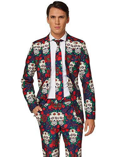 Suitmeister Halloween Costumes for Men - Day of The Dead - Include Jacket Pants & Tie -