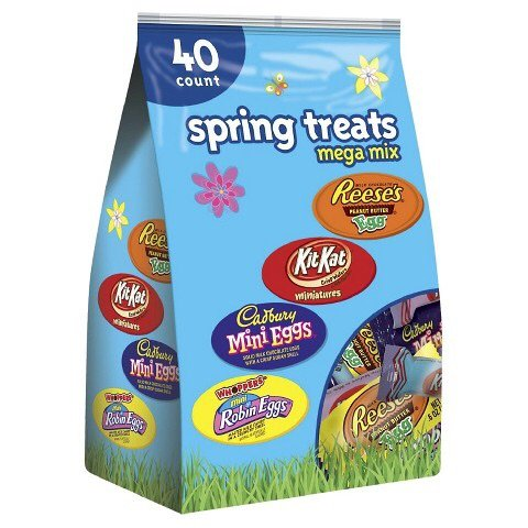 Hershey's Easter Egg Hunt Assortment Reese's Peanut Butter Cups, Hershey Miniatures & Kisses - 18 0z