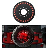 JeCar 25 LEDs Spare Tire Third Brake Lights Accessories for Spare Tire For Jeep Wrangler JK 2007-2016 Red Light