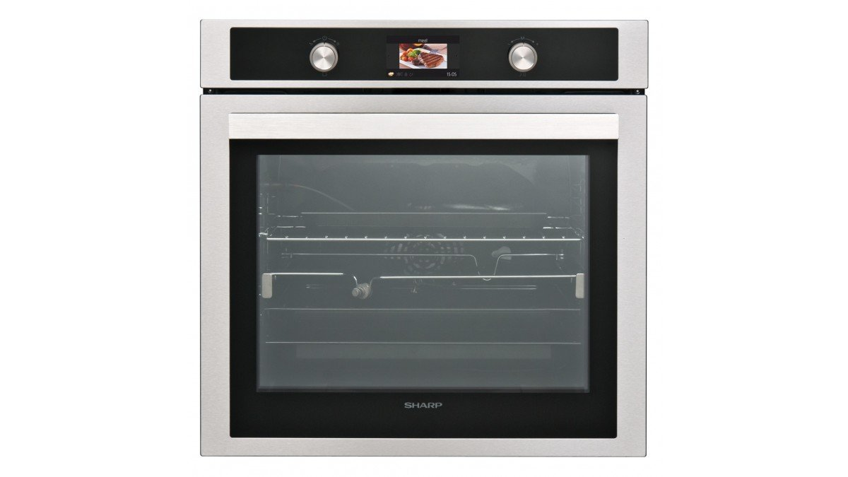 SHARP KS-70S50ISS-EU Einbau Backofen / 78 L / 150 Automatikprogramme / farbiges LCD-Display / 9 Beheizungsarten / Katalytische Reinigung / Dampfreinigung / Edelstahl mit AntiFingerprint-Beschichtung Sharp Home Appliances 10704088