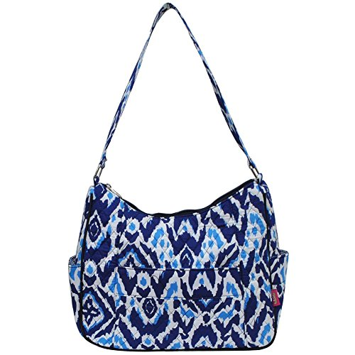 Ngil Quilted Cotton Hobo Shoulder Bag (Blue Ikat (Cotton Purse)
